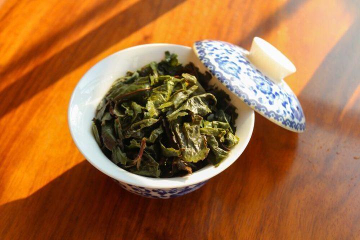 Gaiwan feuilles de thé